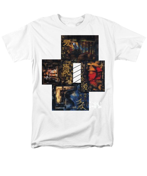 Men's T-Shirt  (Regular Fit) featuring the painting Love Four Seasons by Fei A