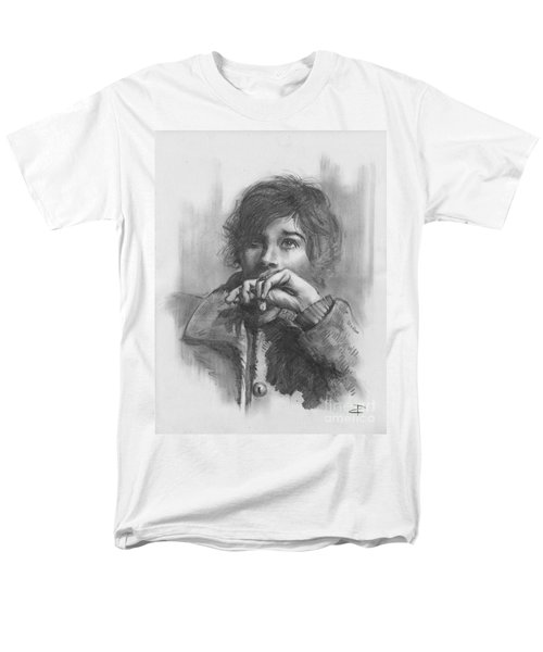 Men's T-Shirt  (Regular Fit) featuring the drawing Lucy by Paul Davenport