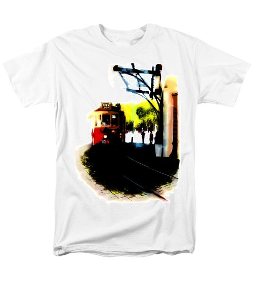 Make Way For The Tram  Men's T-Shirt  (Regular Fit) by Steve Taylor