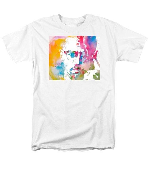 Malcolm X Watercolor Men's T-Shirt  (Regular Fit) by Dan Sproul