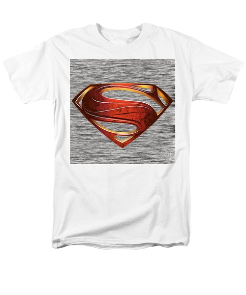 Men's T-Shirt  (Regular Fit) featuring the mixed media Man Of Steel Superman by Marvin Blaine