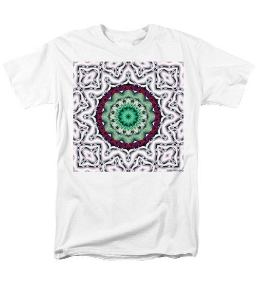 Men's T-Shirt  (Regular Fit) featuring the digital art Mandala 8 by Terry Reynoldson