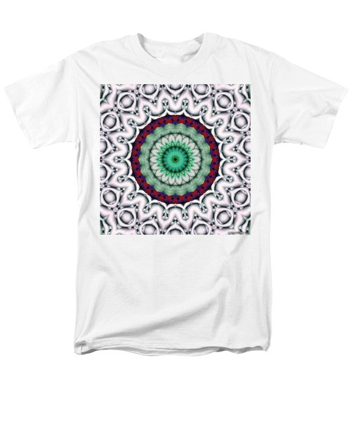 Men's T-Shirt  (Regular Fit) featuring the digital art Mandala 9 by Terry Reynoldson