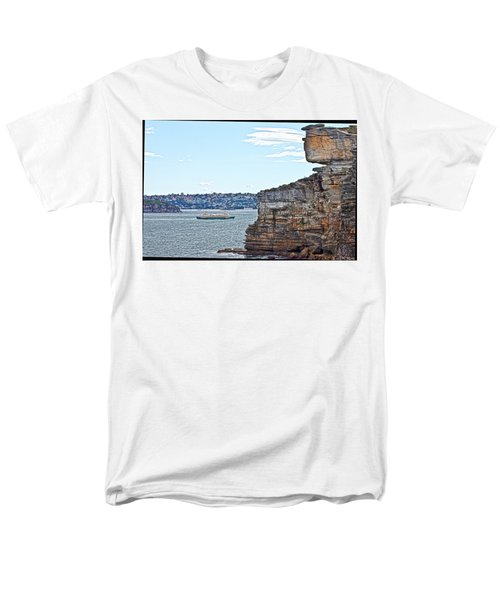 Men's T-Shirt  (Regular Fit) featuring the photograph Manly Ferry Passing By  by Miroslava Jurcik