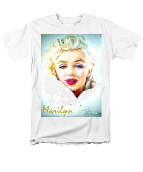 Marilyn Monroe Men's T-Shirt  (Regular Fit) by Barbara Chichester