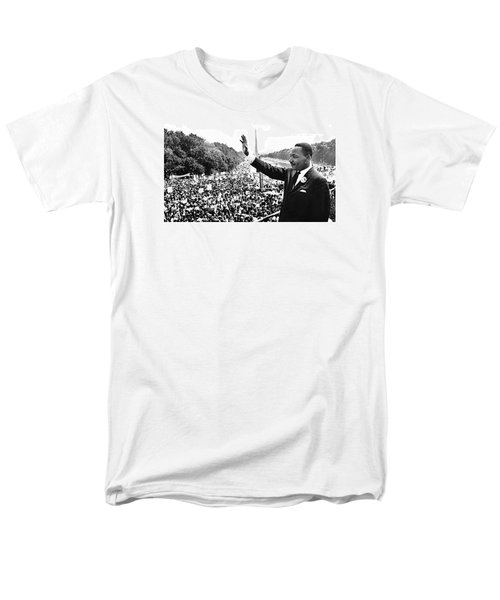 Martin Luther King The Great March On Washington Lincoln Memorial August 28 1963-2014 Men's T-Shirt  (Regular Fit) by David Lee Guss