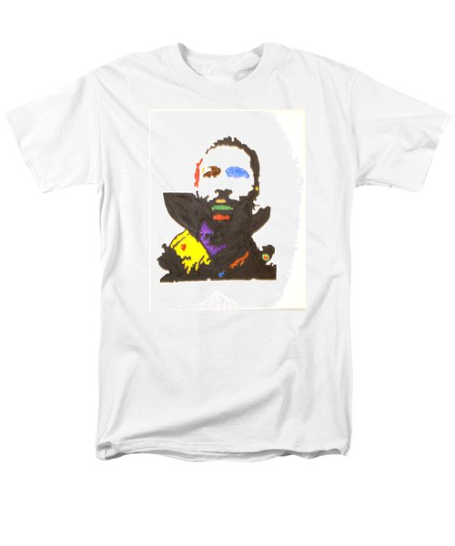 Men's T-Shirt  (Regular Fit) featuring the painting Marvin Gaye by Stormm Bradshaw