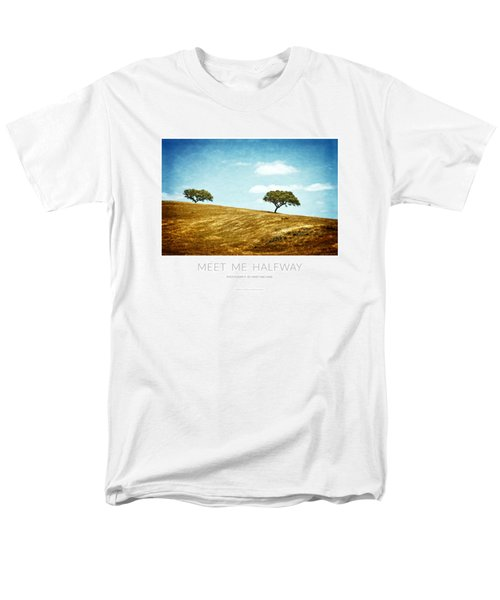 Meet Me Halfway - Poster Men's T-Shirt  (Regular Fit) by Mary Machare
