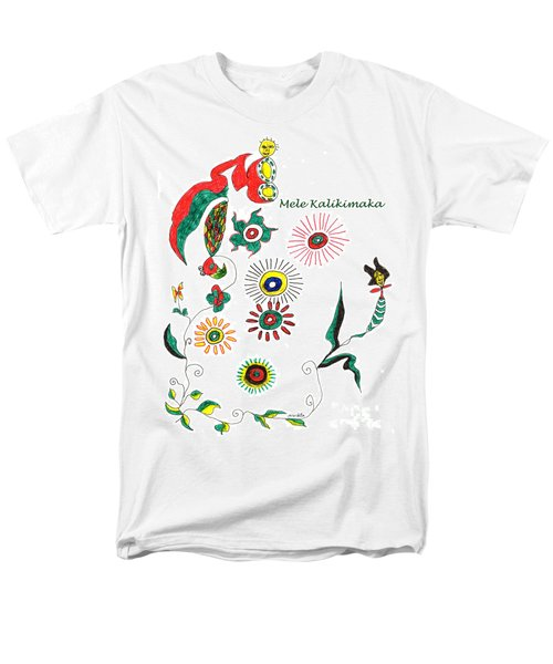 Men's T-Shirt  (Regular Fit) featuring the drawing Mele Kalikimaka by Mukta Gupta