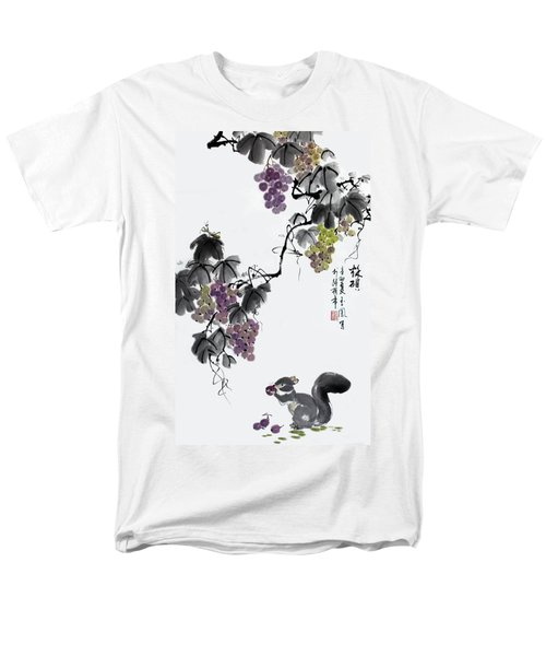 Men's T-Shirt  (Regular Fit) featuring the painting Melody Of Life II by Yufeng Wang