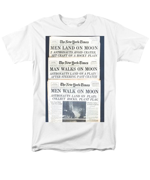 Men Walk On The Moon Men's T-Shirt  (Regular Fit) by Kenneth Cole
