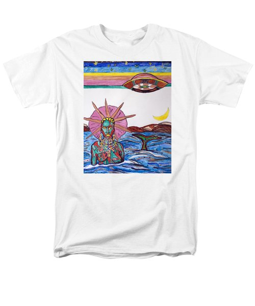 Yemoja Ufo  Men's T-Shirt  (Regular Fit) by Stormm Bradshaw