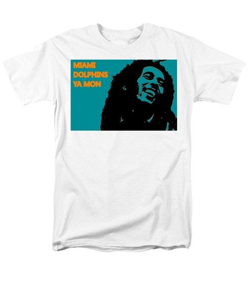 Miami Dolphins Ya Mon Men's T-Shirt  (Regular Fit) by Joe Hamilton