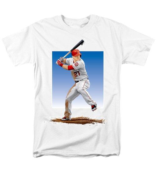 Mike Trout Men's T-Shirt  (Regular Fit) by Scott Weigner