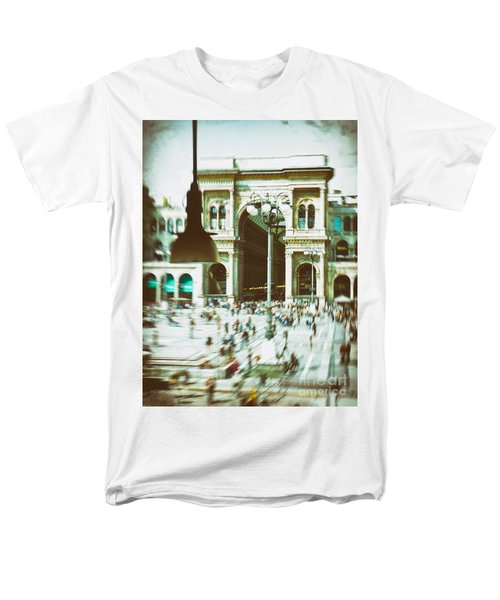 Men's T-Shirt  (Regular Fit) featuring the photograph Milan Gallery by Silvia Ganora