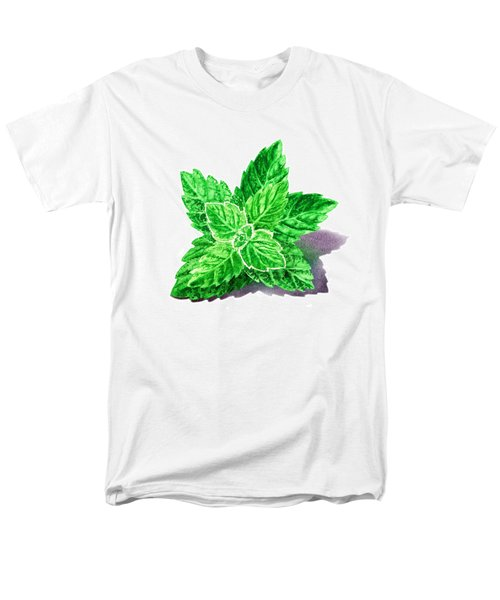 Men's T-Shirt  (Regular Fit) featuring the painting Mint Leaves by Irina Sztukowski