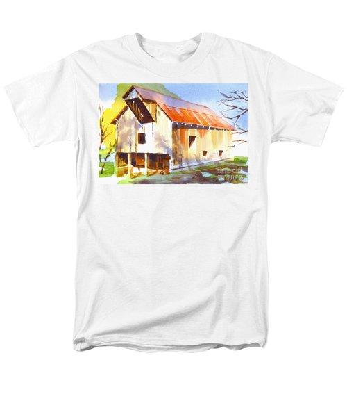 Missouri Barn In Watercolor Men's T-Shirt  (Regular Fit) by Kip DeVore