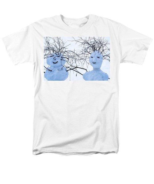 Mister And Missis Snowball - Featured 3 Men's T-Shirt  (Regular Fit) by Alexander Senin