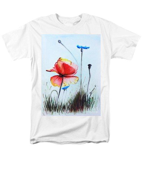 Mohnwiese Men's T-Shirt  (Regular Fit) by Katharina Filus