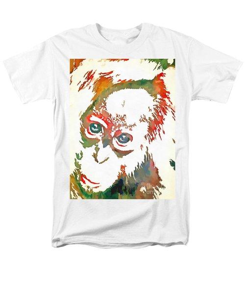 Monkey Pop Art Men's T-Shirt  (Regular Fit) by Catherine Lott