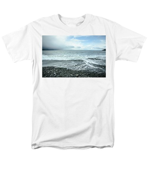 Moody Waves French Beach Men's T-Shirt  (Regular Fit) by Roxy Hurtubise