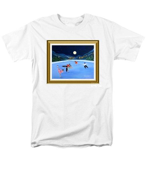 Moonlight Skating. Inspirations Collection. Card Men's T-Shirt  (Regular Fit)