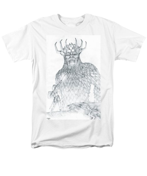 Men's T-Shirt  (Regular Fit) featuring the drawing Morgoth And Fingolfin by Curtiss Shaffer