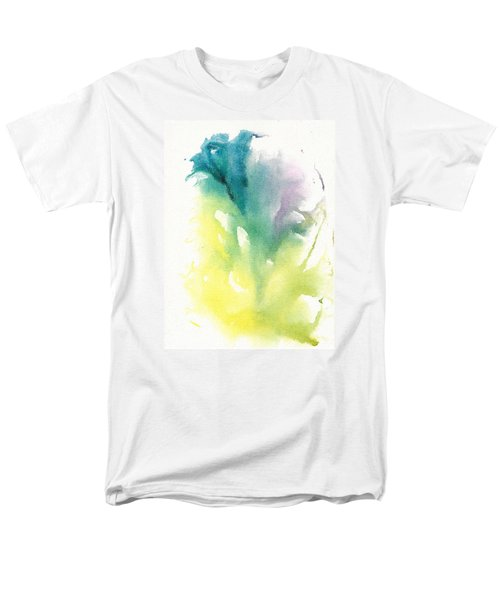 Men's T-Shirt  (Regular Fit) featuring the painting Morning Glory Abstract by Frank Bright