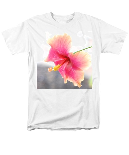 Morning Hibiscus In Gentle Light - Square Macro Men's T-Shirt  (Regular Fit) by Connie Fox
