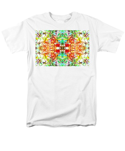 Men's T-Shirt  (Regular Fit) featuring the photograph Mosaic Of Spring Abstract Art Photo by Marianne Dow