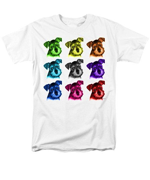 Mosaic Salt And Pepper Schnauzer Puppy 7206 F - Wb Men's T-Shirt  (Regular Fit) by James Ahn