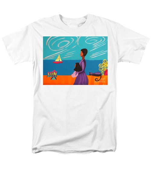 Mother And Daughter Men's T-Shirt  (Regular Fit) by Anita Lewis