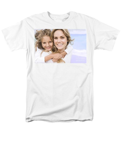 Men's T-Shirt  (Regular Fit) featuring the painting Mother Daughter Portrait   by Tim Gilliland