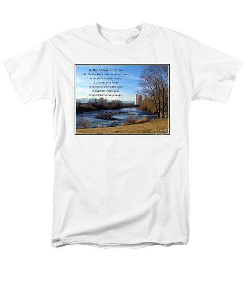 Men's T-Shirt  (Regular Fit) featuring the photograph Mother Natures Canvas by Bobbee Rickard