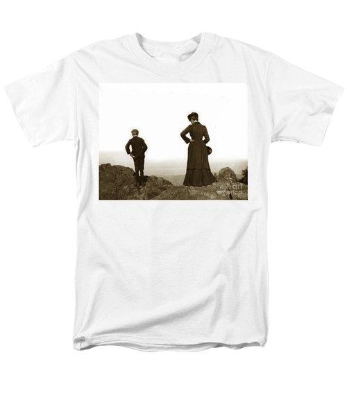 Men's T-Shirt  (Regular Fit) featuring the photograph Mount Tamalpais Marin County California Circa 1902 by California Views Mr Pat Hathaway Archives