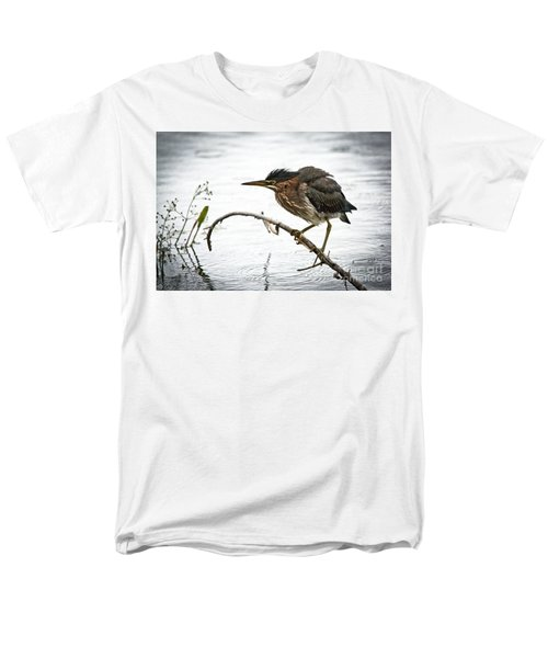 Mr. Green Heron Men's T-Shirt  (Regular Fit) by Cheryl Baxter