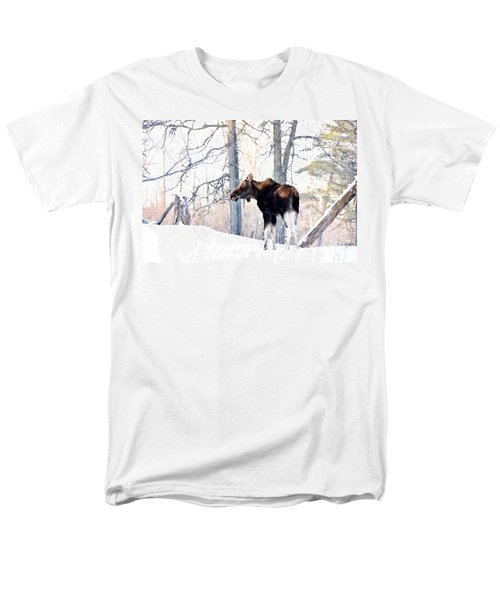 Mr. Moose Men's T-Shirt  (Regular Fit) by Cheryl Baxter