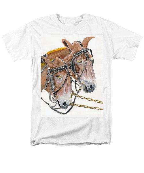 Mules - Two - Beast Of Burden Men's T-Shirt  (Regular Fit) by Jan Dappen