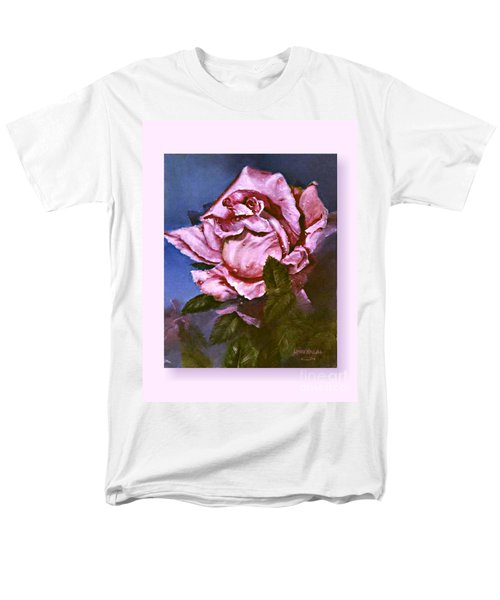 Men's T-Shirt  (Regular Fit) featuring the painting My First Rose by Lynne Wright