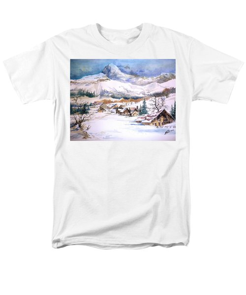 My First Snow Scene Men's T-Shirt  (Regular Fit) by Alban Dizdari