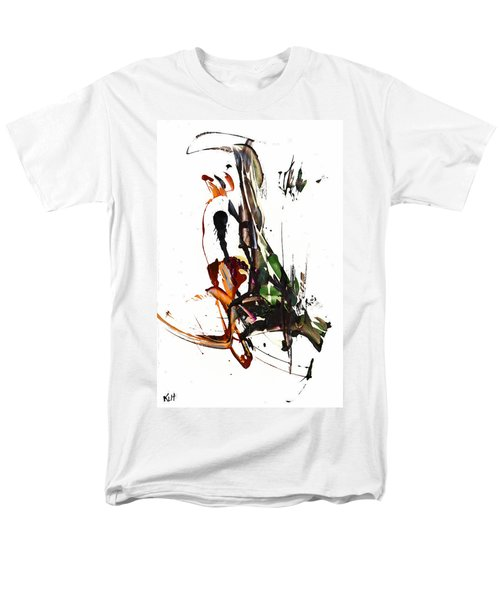 Men's T-Shirt  (Regular Fit) featuring the painting My Form Of Jazz Series - 10185.110709 by Kris Haas