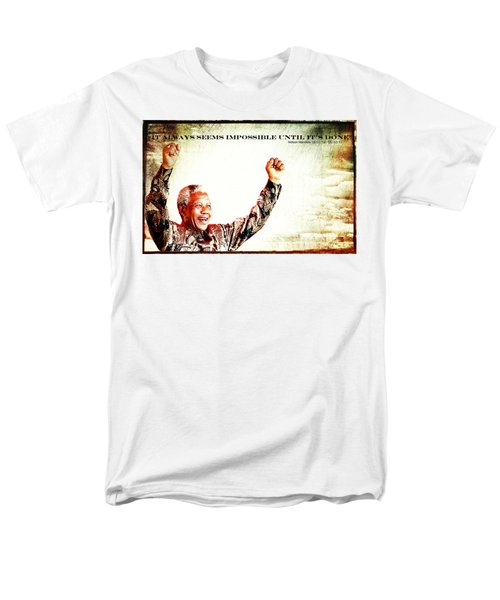 Nelson Mandela Men's T-Shirt  (Regular Fit) by Spikey Mouse Photography