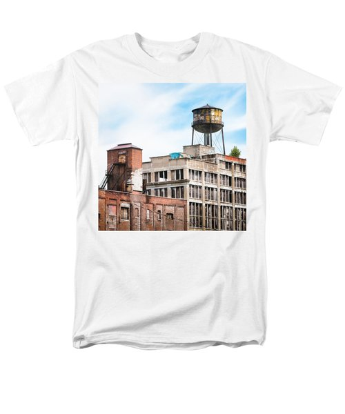 Men's T-Shirt  (Regular Fit) featuring the photograph New York Water Towers 18 - Greenpoint Water Tower by Gary Heller