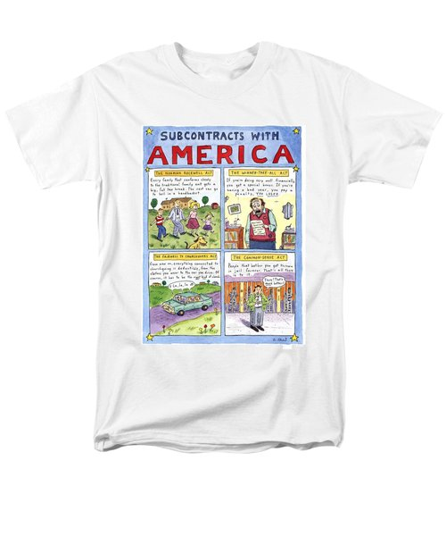 New Yorker January 16th, 1995 Men's T-Shirt  (Regular Fit) by Roz Chast