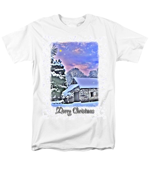 Christmas Card 27 Men's T-Shirt  (Regular Fit) by Nina Ficur Feenan