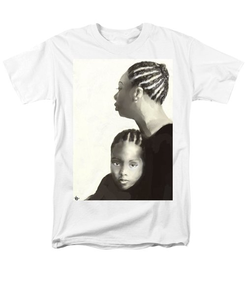 Men's T-Shirt  (Regular Fit) featuring the drawing Nina And Lisa Simone by Vannetta Ferguson