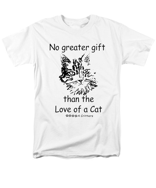 Men's T-Shirt  (Regular Fit) featuring the photograph No Greater Gift Than Love Of Cat by Robyn Stacey