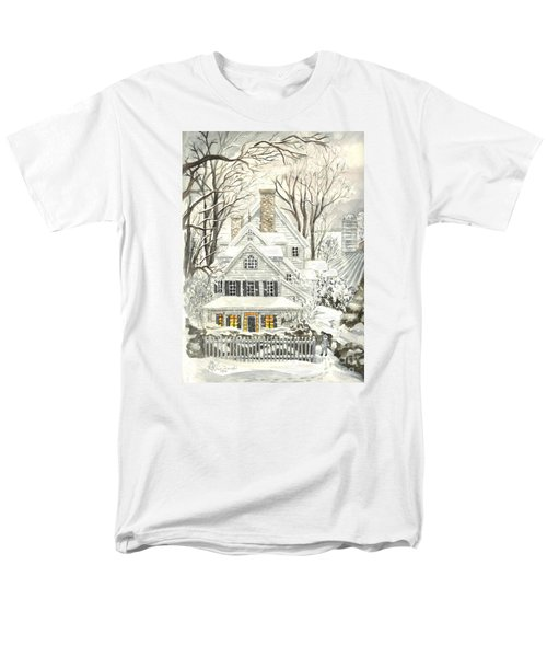 No Place Like Home For The Holidays Men's T-Shirt  (Regular Fit) by Carol Wisniewski