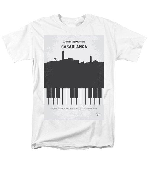 No192 My Casablanca Minimal Movie Poster Men's T-Shirt  (Regular Fit)
