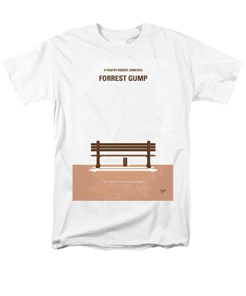No193 My Forrest Gump Minimal Movie Poster Men's T-Shirt  (Regular Fit)
